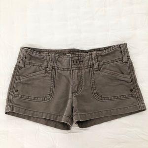Hollister dark khaki shorts